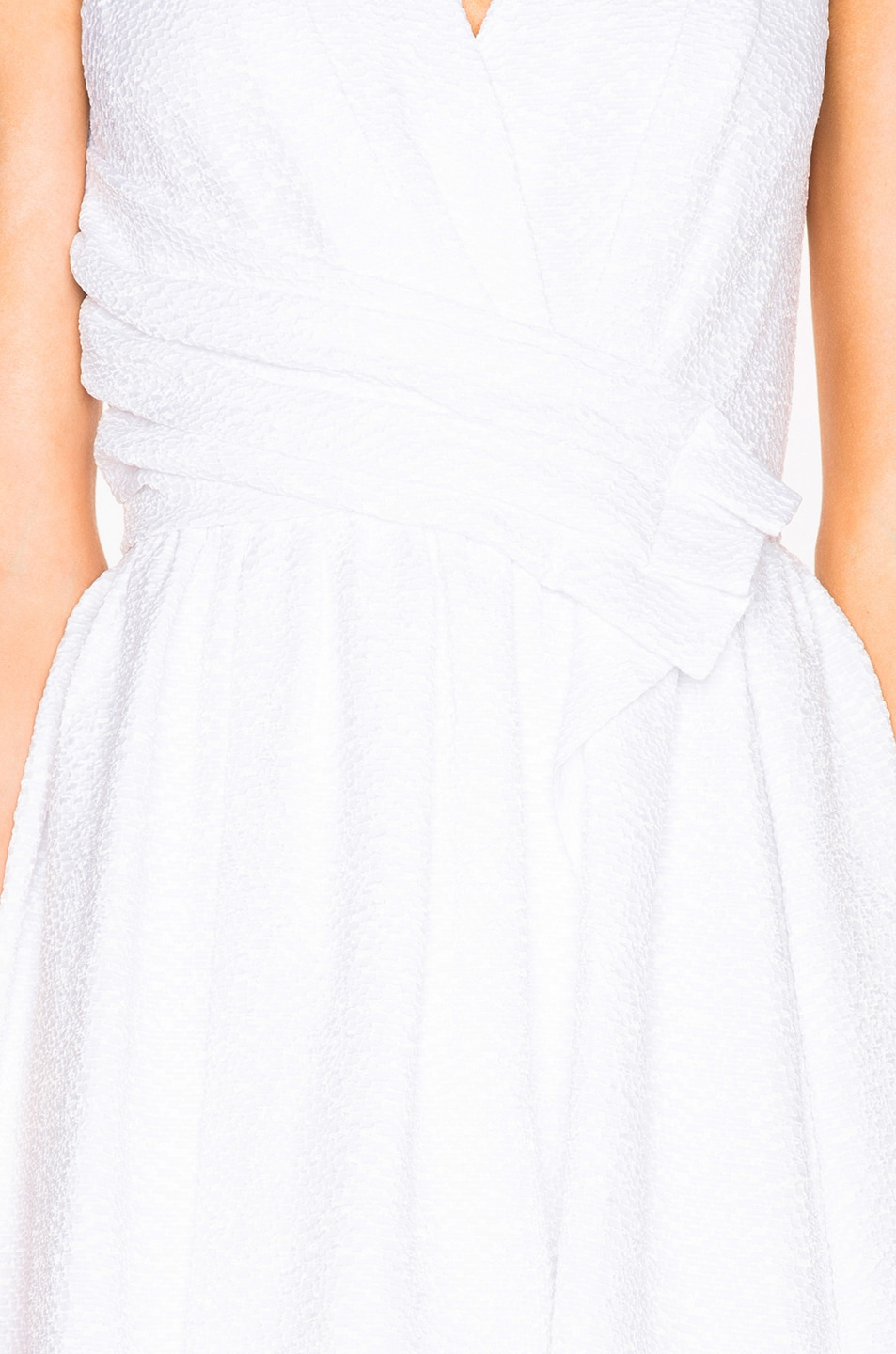 Image 5 of Carven Draped Dress in White