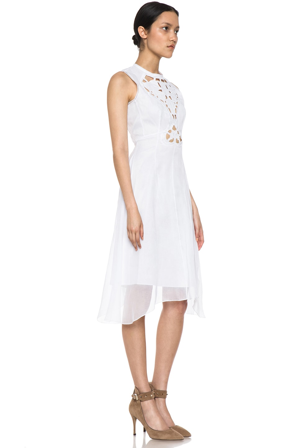 Image 3 of Carven Organza Dress in White