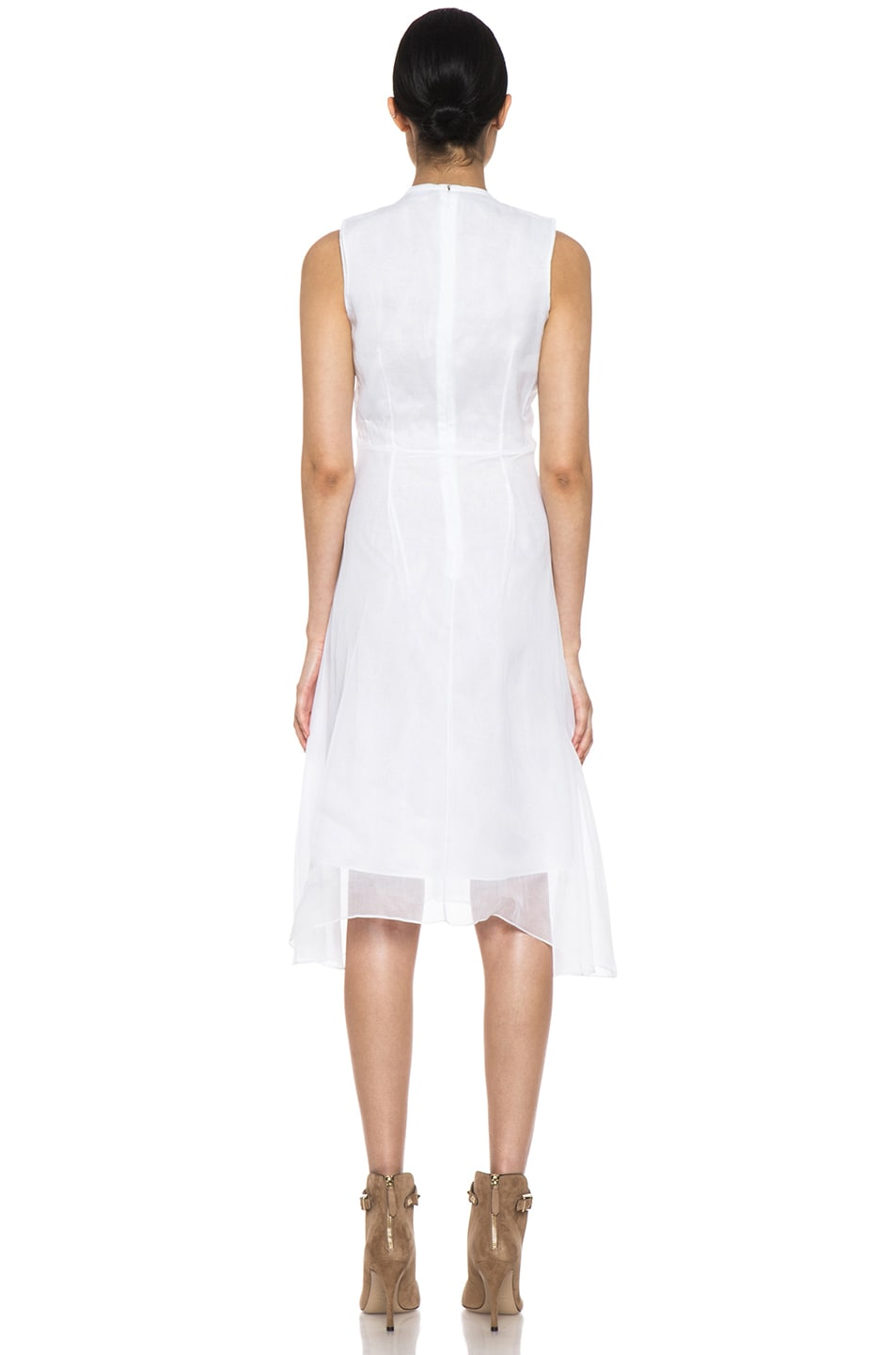 Image 4 of Carven Organza Dress in White
