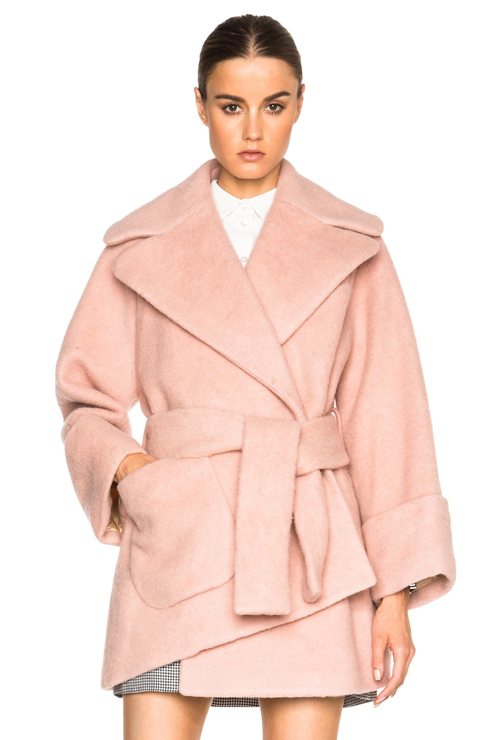 Carven Court Coat in Powder | FWRD
