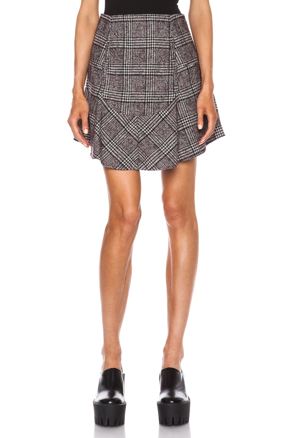 Image 1 of Carven Plaid Mini Skirt in Multi