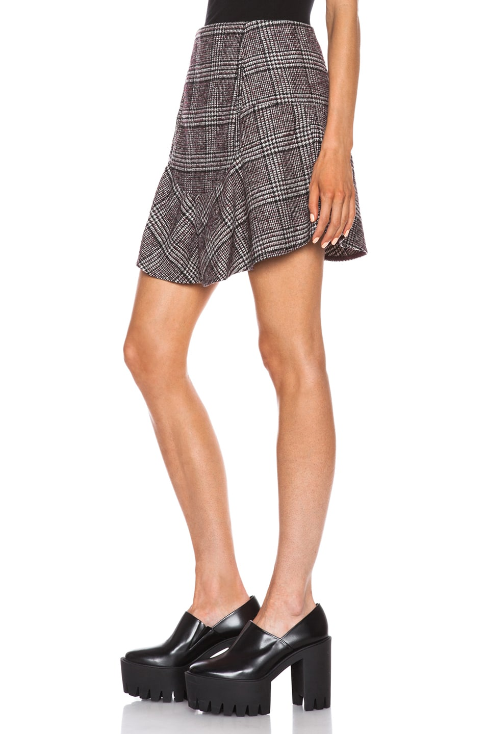 Image 2 of Carven Plaid Mini Skirt in Multi