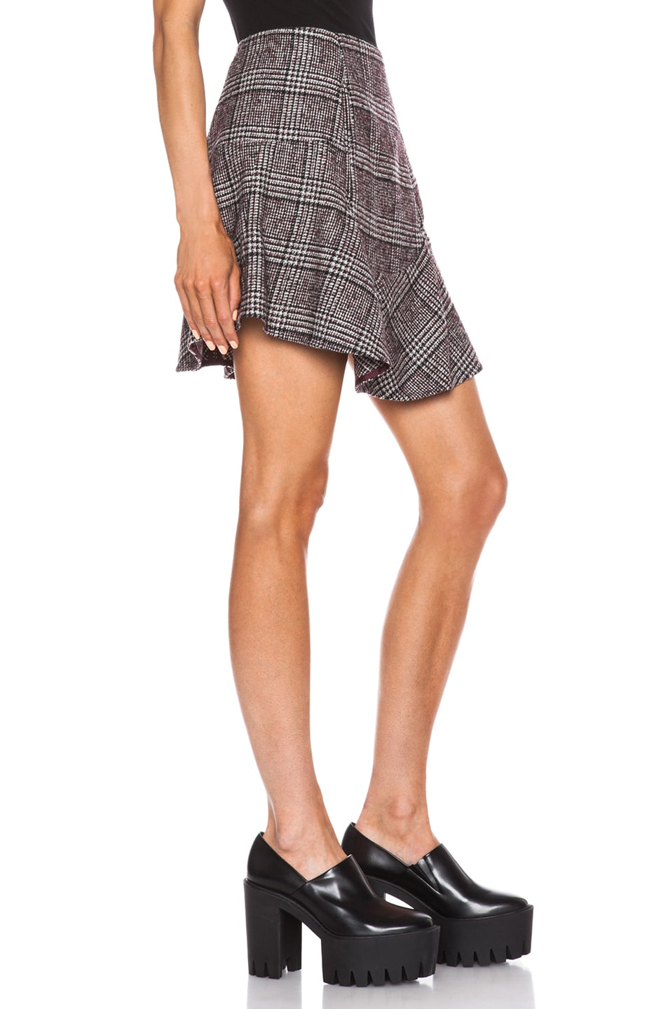 Image 3 of Carven Plaid Mini Skirt in Multi