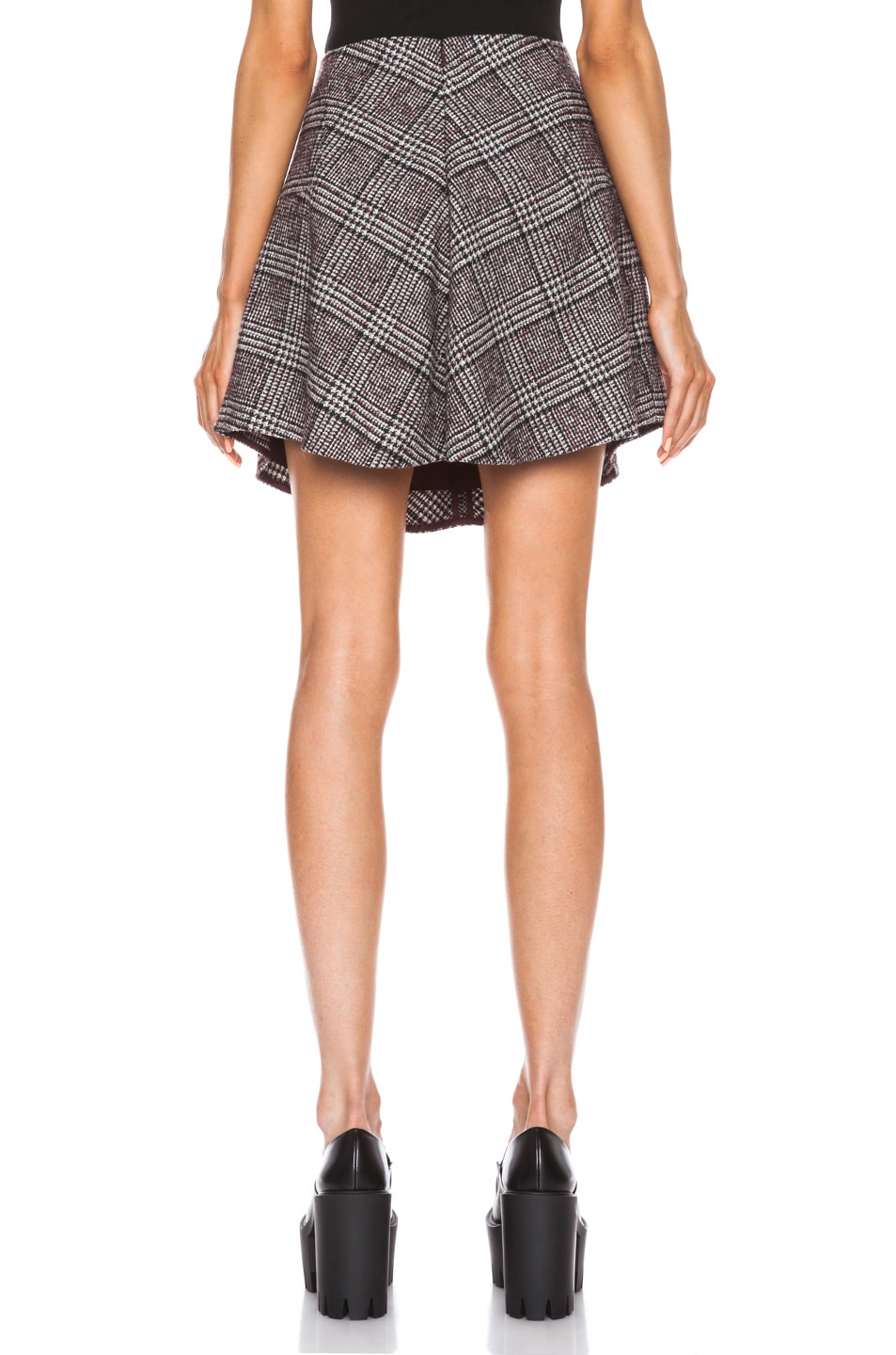 Image 4 of Carven Plaid Mini Skirt in Multi