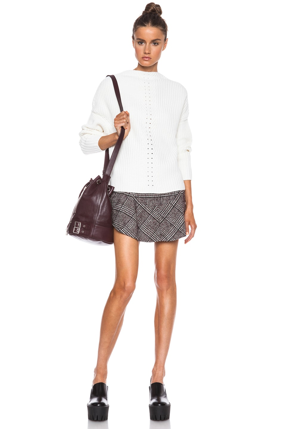 Image 5 of Carven Plaid Mini Skirt in Multi