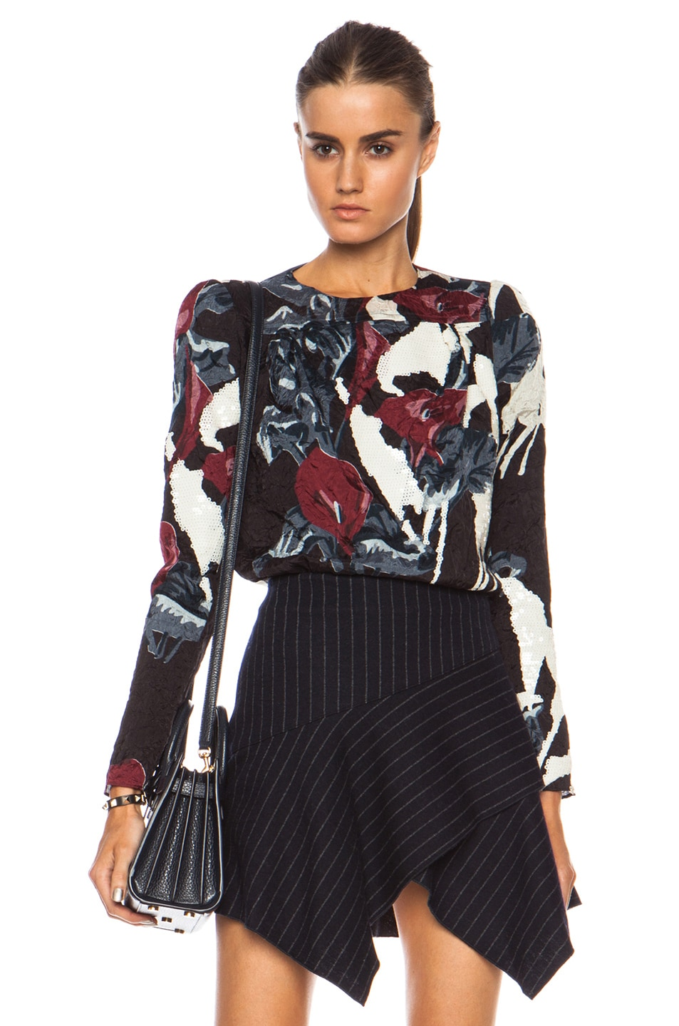 Carven Printed Silk Blouse 35