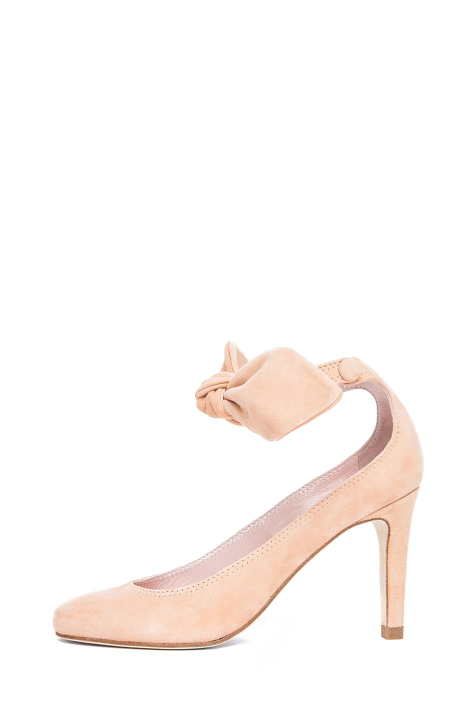 Image 1 of Carven Bow Heel in Nude