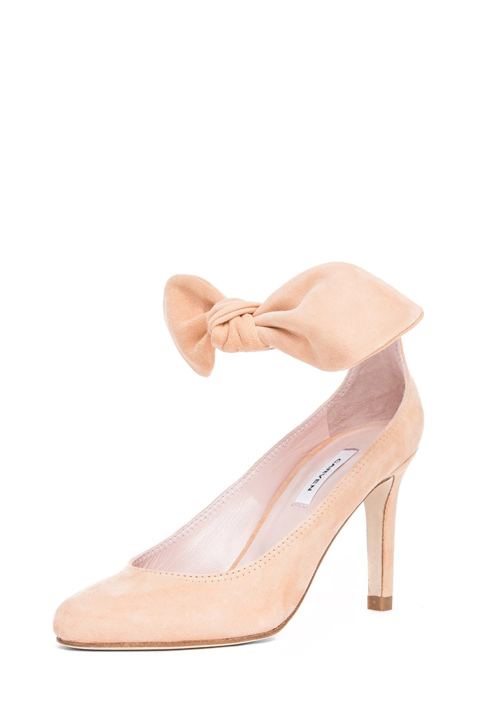 Image 2 of Carven Bow Heel in Nude