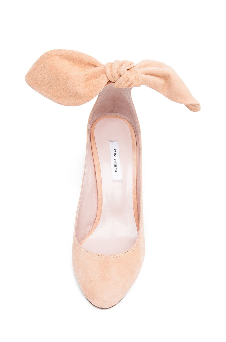 Image 4 of Carven Bow Heel in Nude