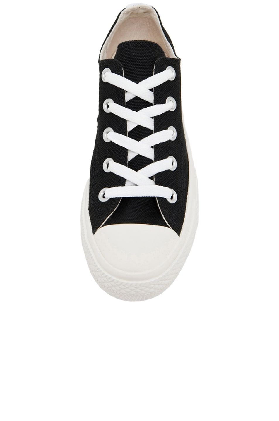 Image 4 of Comme Des Garcons PLAY Converse Canvas Sneakers in Black & Red