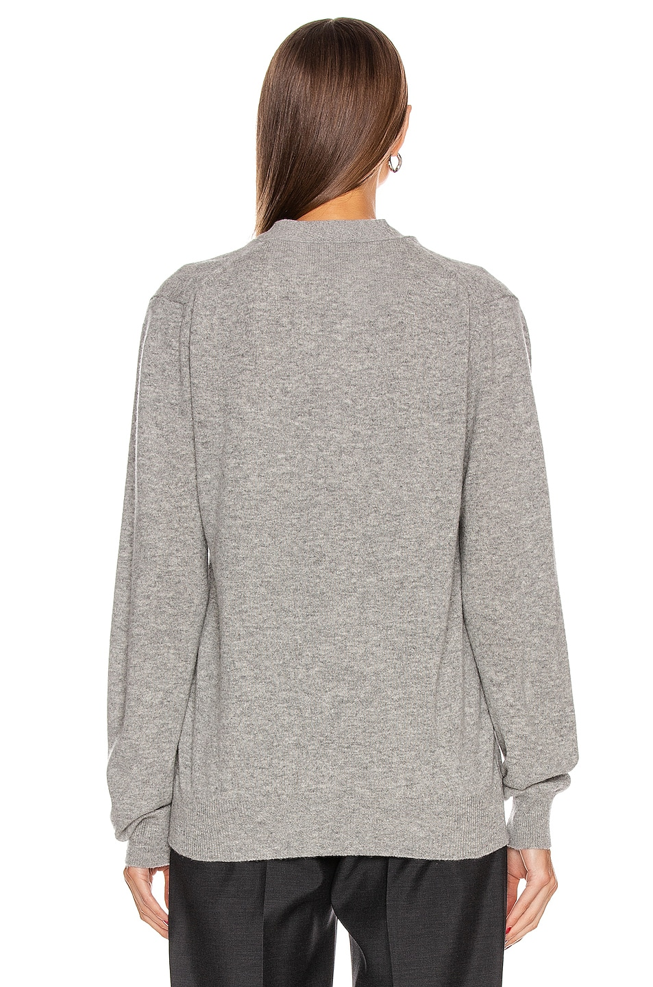 Image 4 of Comme Des Garcons PLAY Wool Black Heart Emblem Cardigan in Light Grey