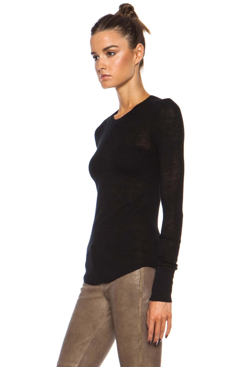 Image 2 of Citizens of Humanity Cashmere Thermal in Black
