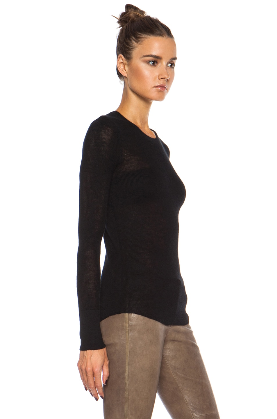 Image 3 of Citizens of Humanity Cashmere Thermal in Black