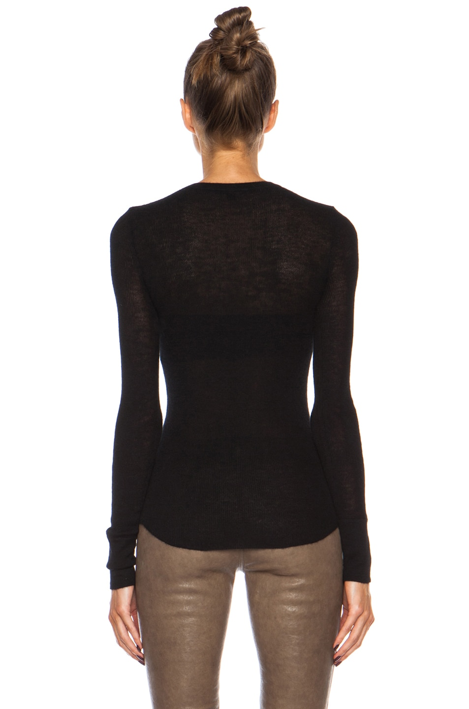 Image 4 of Citizens of Humanity Cashmere Thermal in Black