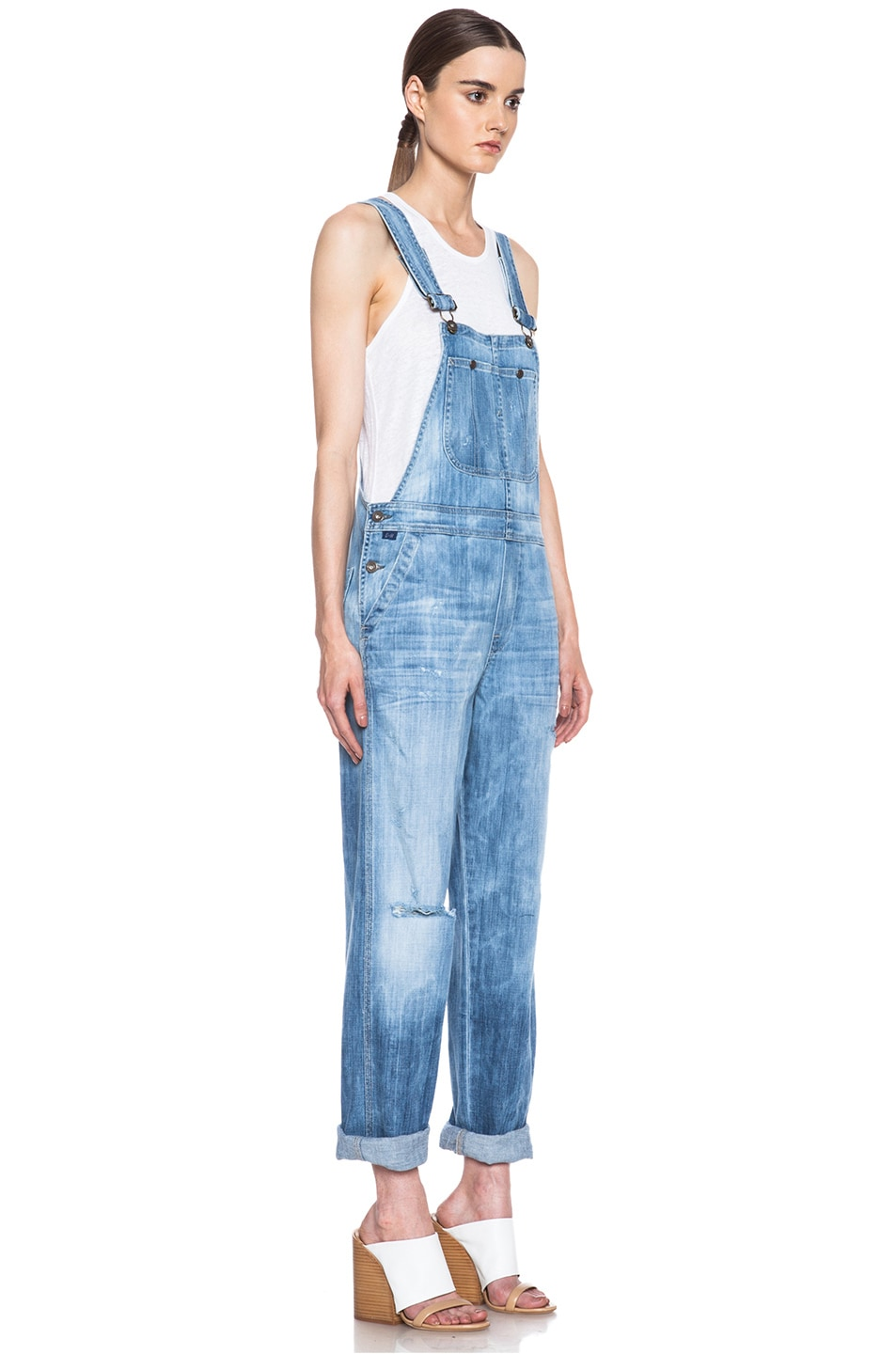Image 3 of Citizens of Humanity Quincey Overalls in Sun Bleach