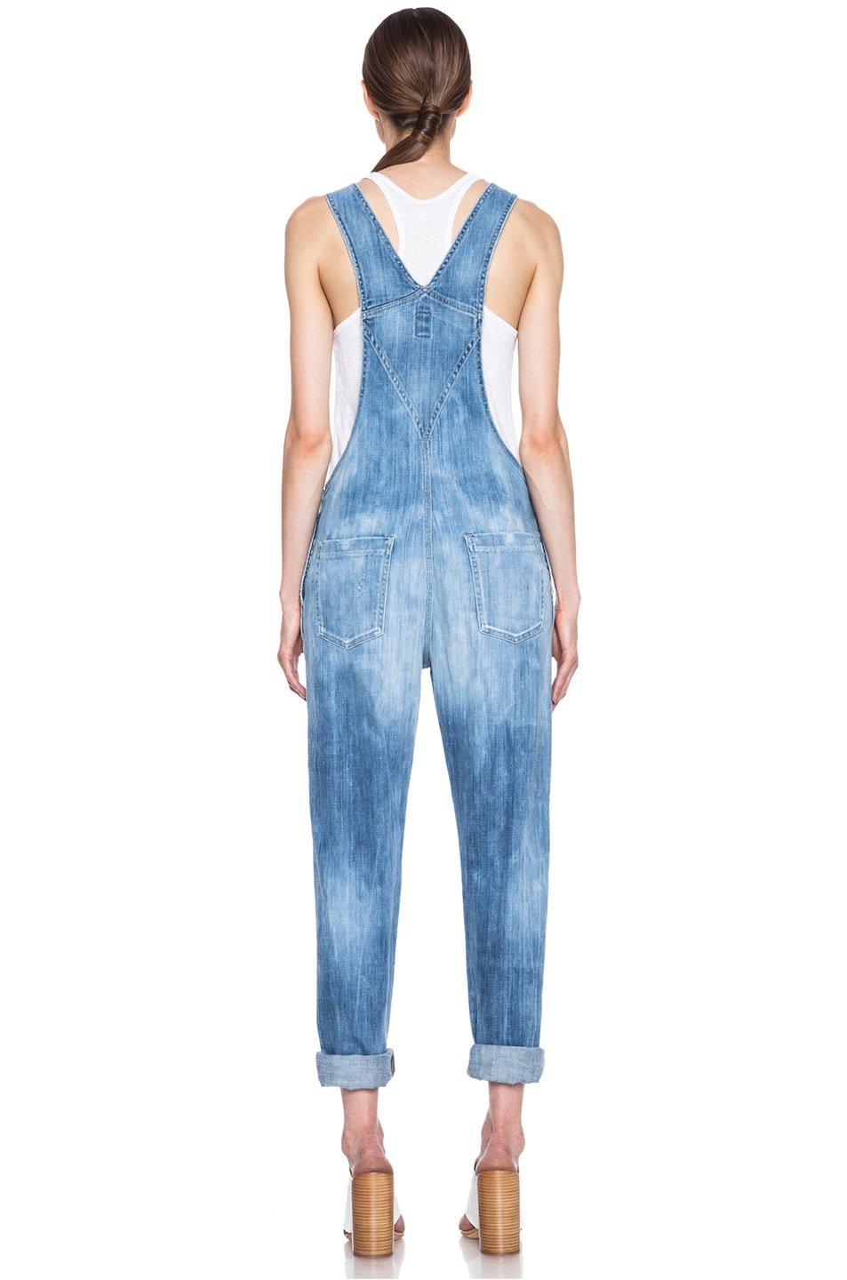 Image 4 of Citizens of Humanity Quincey Overalls in Sun Bleach