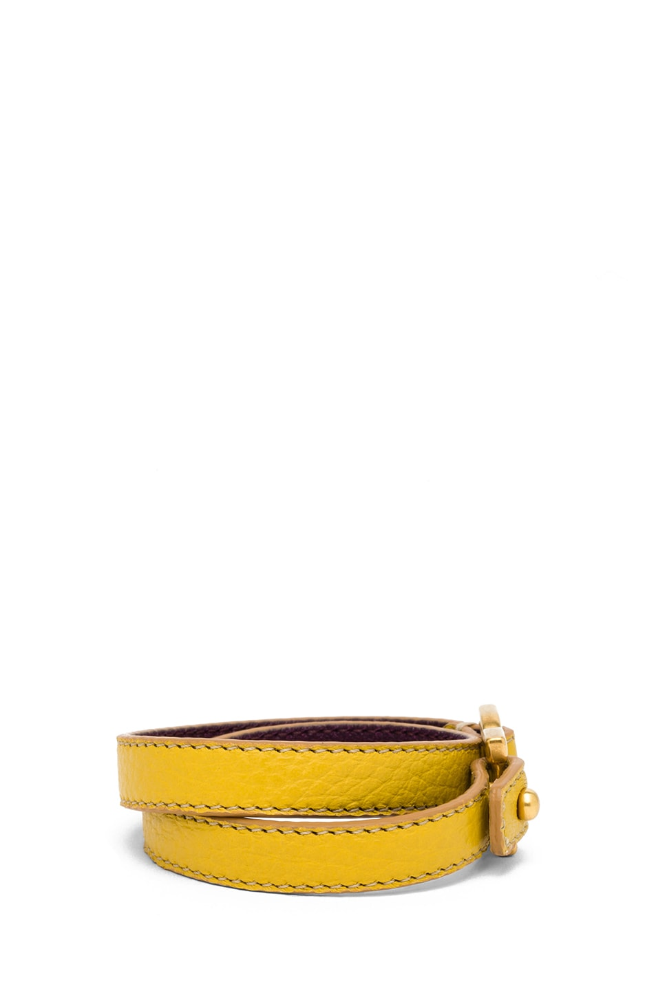 Image 2 of Chloe Marcie Leather Wrap Bracelet in Citrus Grove