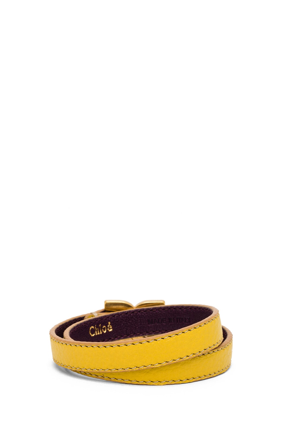 Image 3 of Chloe Marcie Leather Wrap Bracelet in Citrus Grove