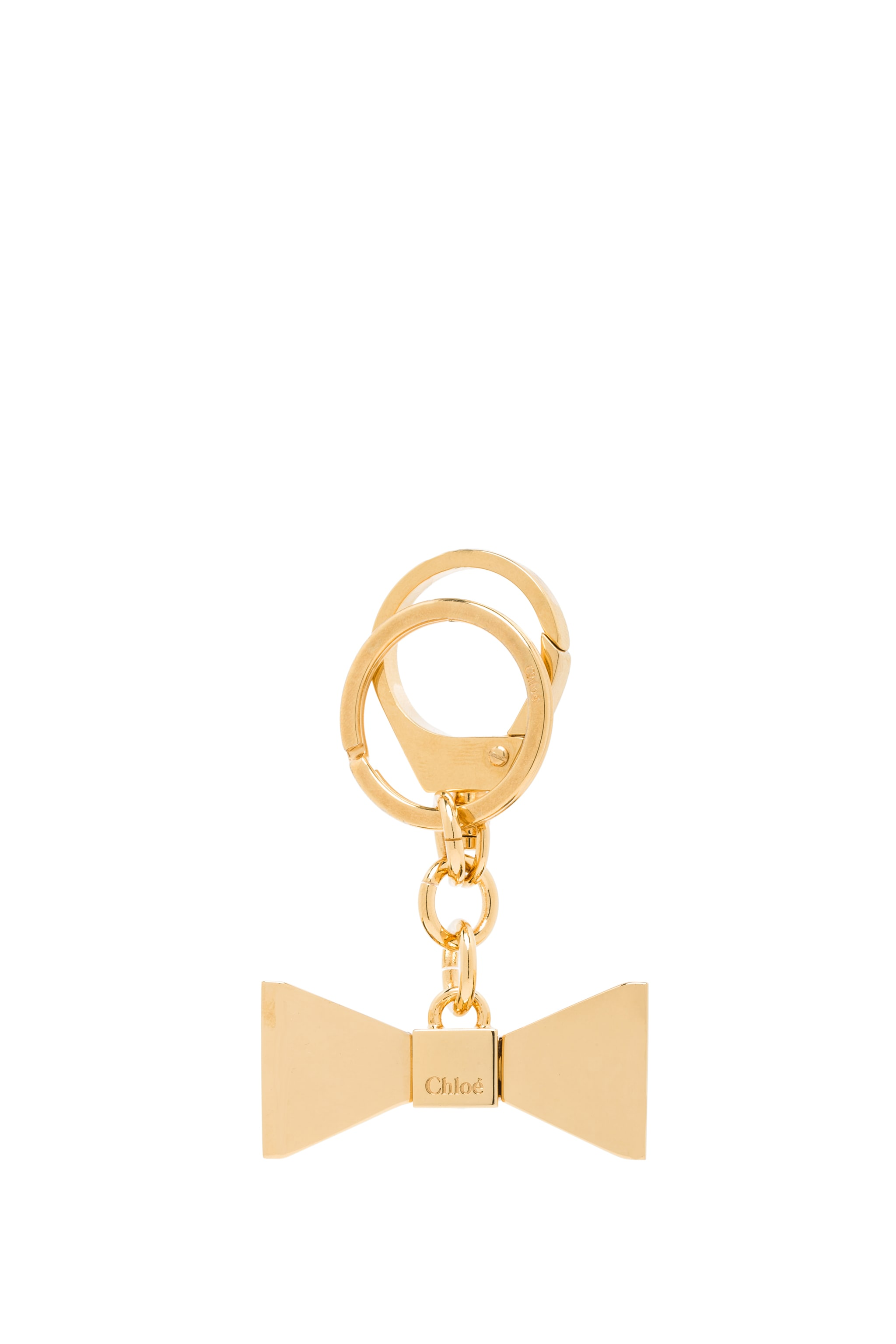 Image 1 of Chloe Bobbie Zamac Key Ring in Brass