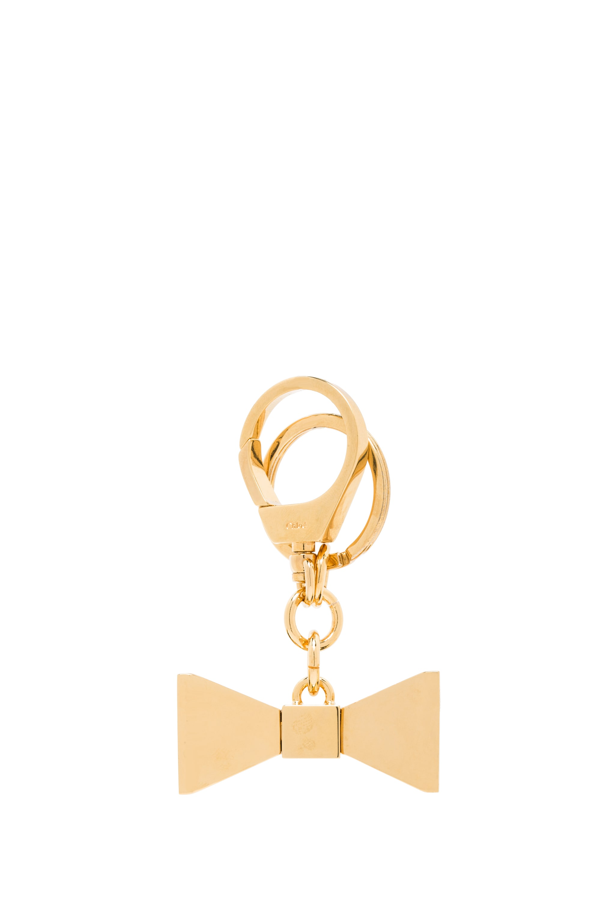 Image 2 of Chloe Bobbie Zamac Key Ring in Brass