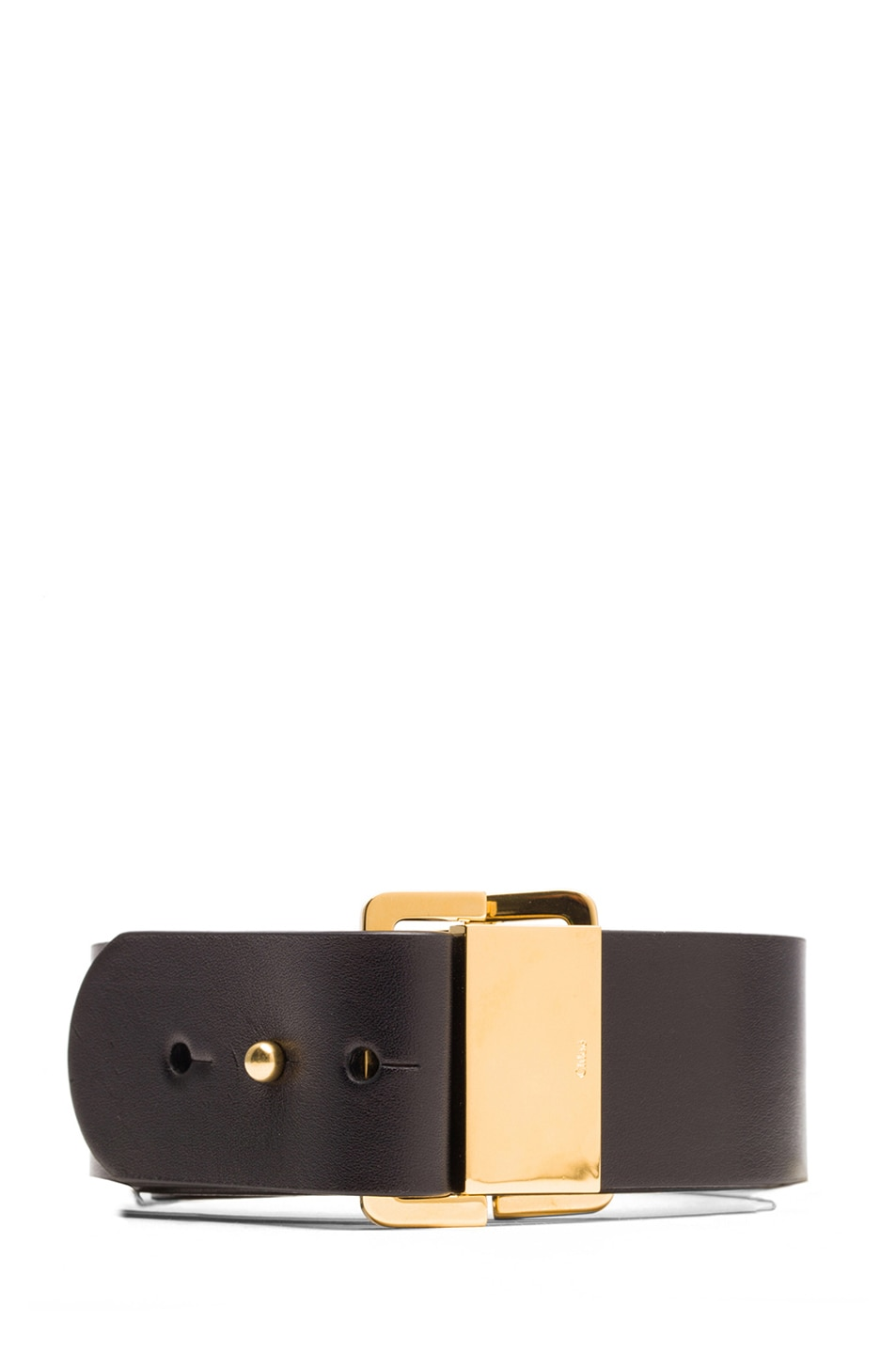 Image 1 of Chloe Sliders Calfskin Leather Belt in Black