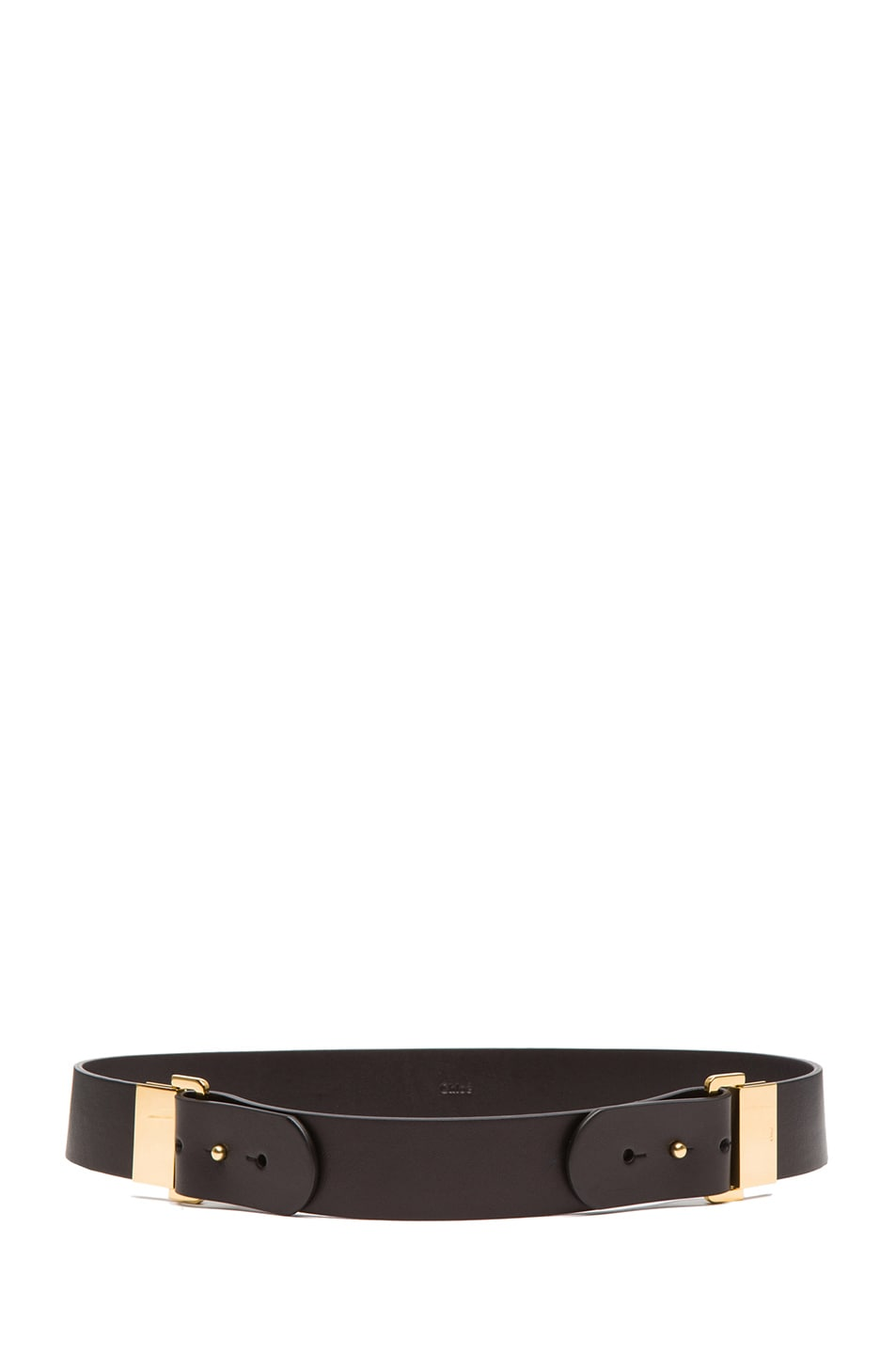 Image 2 of Chloe Sliders Calfskin Leather Belt in Black