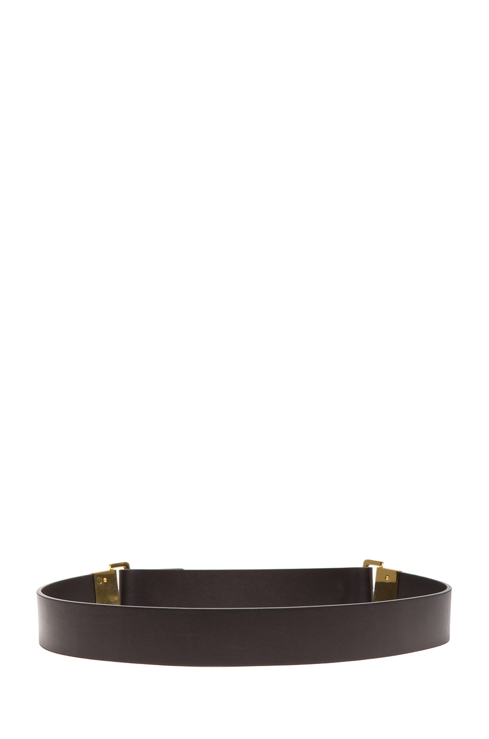 Image 3 of Chloe Sliders Calfskin Leather Belt in Black