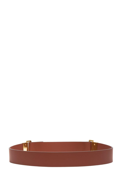 Image 3 of Chloe Sliders Calfskin Leather Belt in Brownie Brown