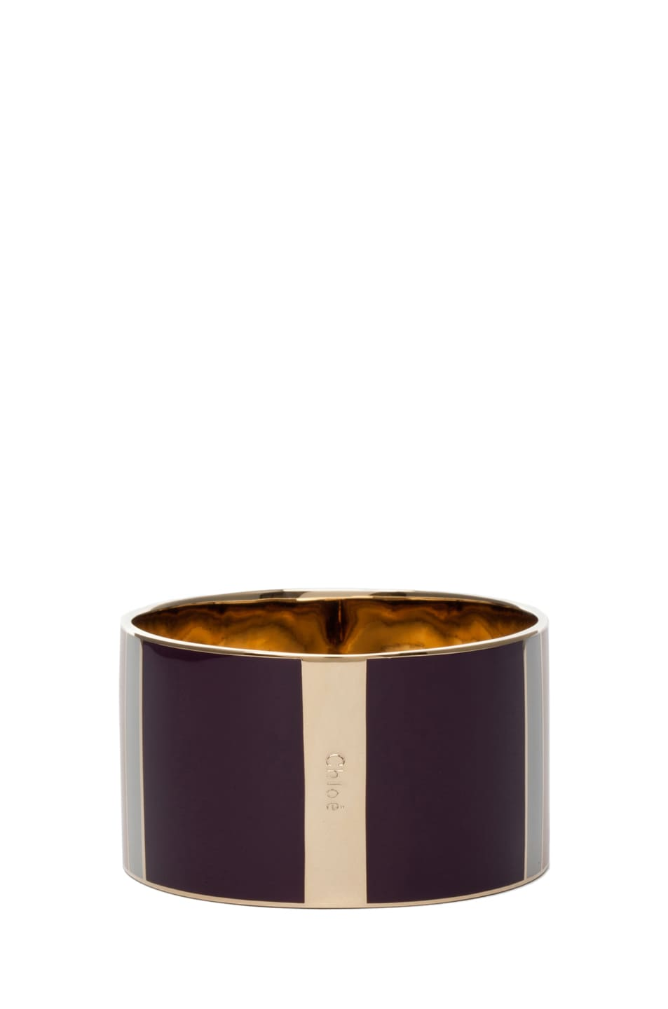 Image 3 of Chloe Holly Bangle in Cherry Plum