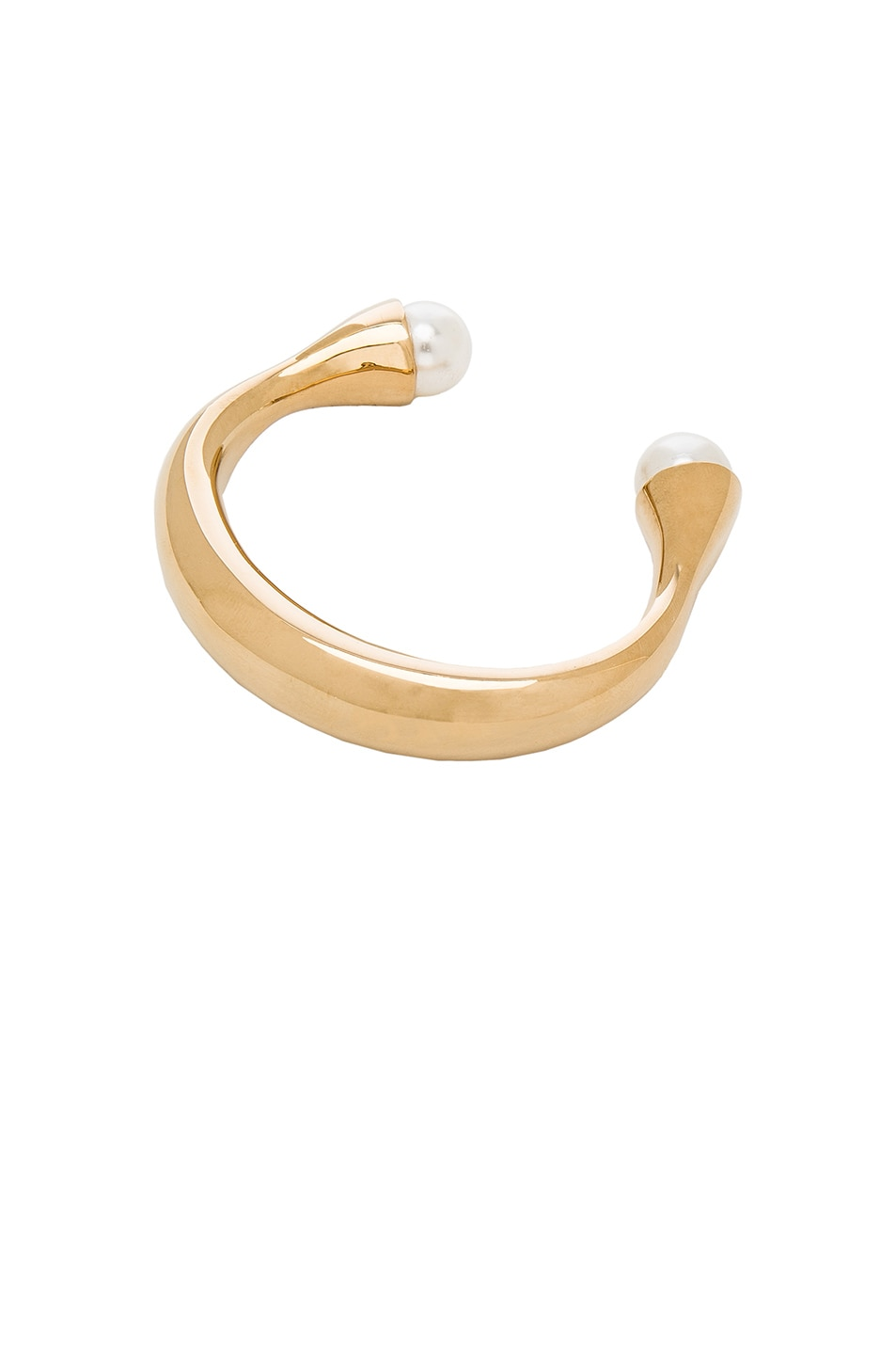 Image 2 of Chloe Darcey Cuff in Gold & Pearl
