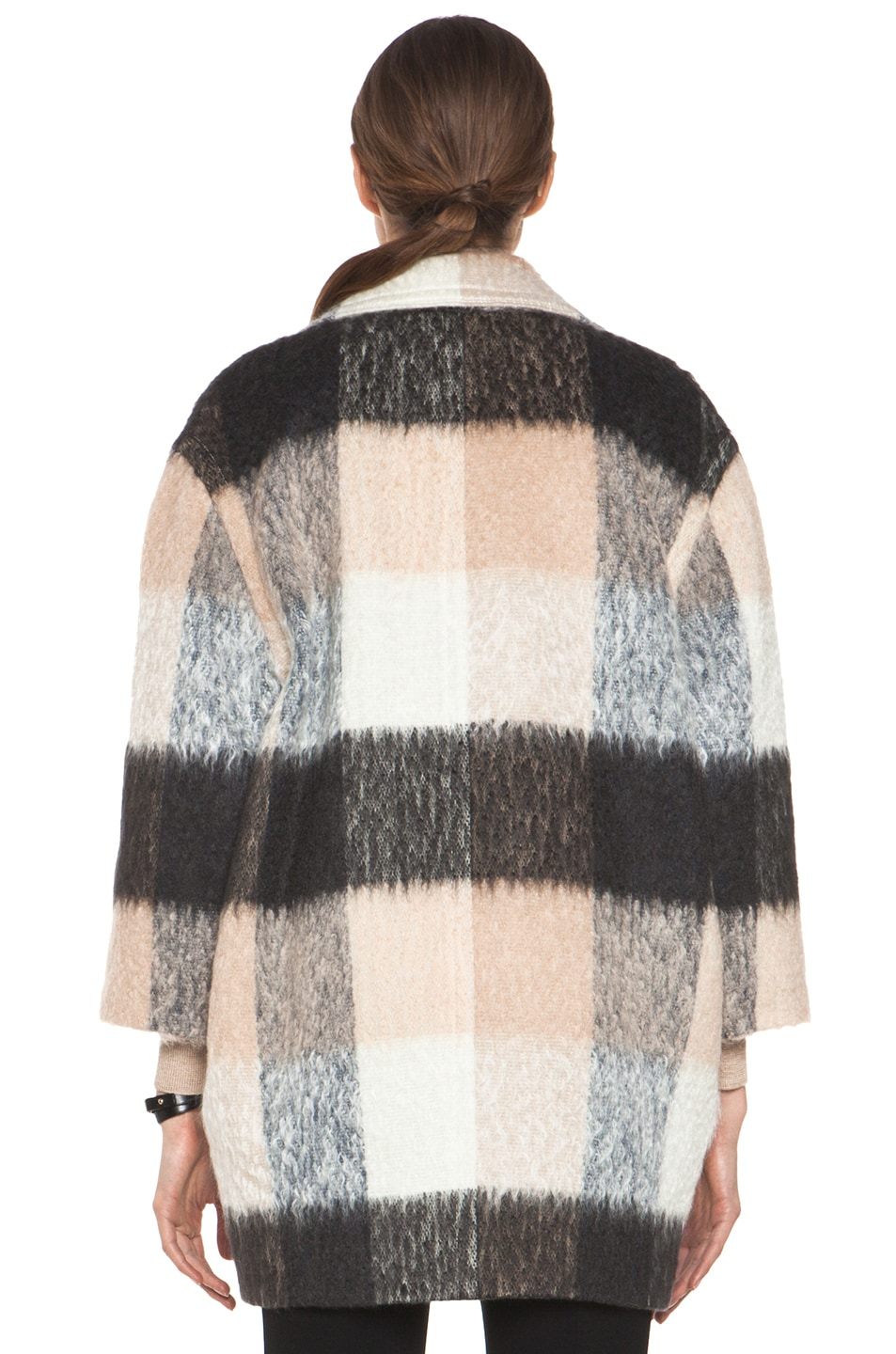 Image 5 of Chloe Check Mohair Coat in Multi