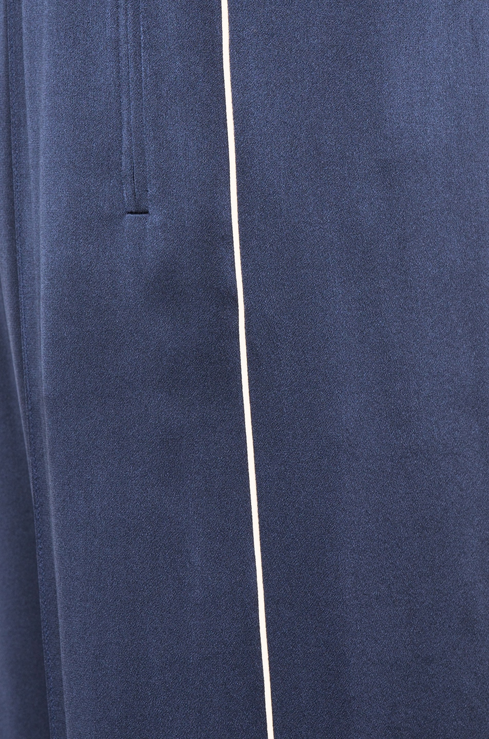 Image 5 of Chloe Crepe Envers Satin Trousers in Ocean Blue