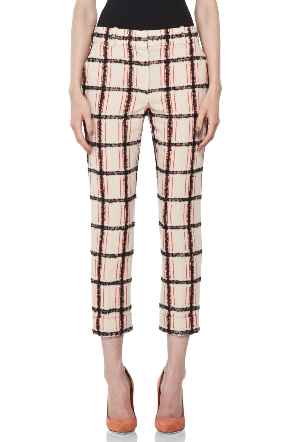 Image 1 of Chloe Plaid Cropped Pant in Multi