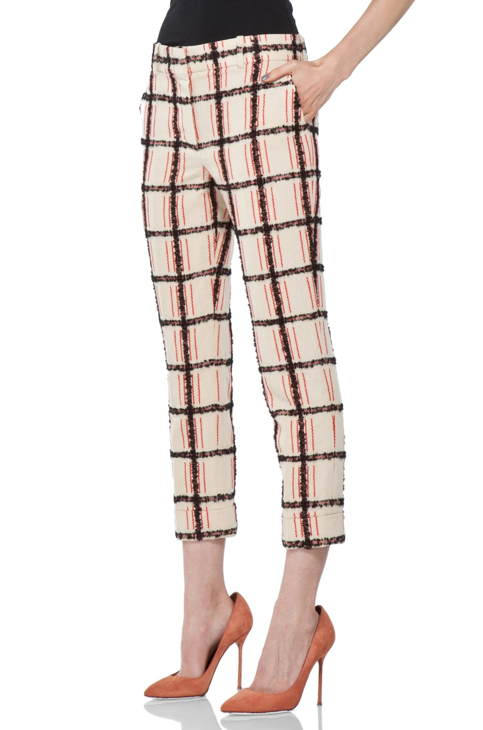 Image 2 of Chloe Plaid Cropped Pant in Multi