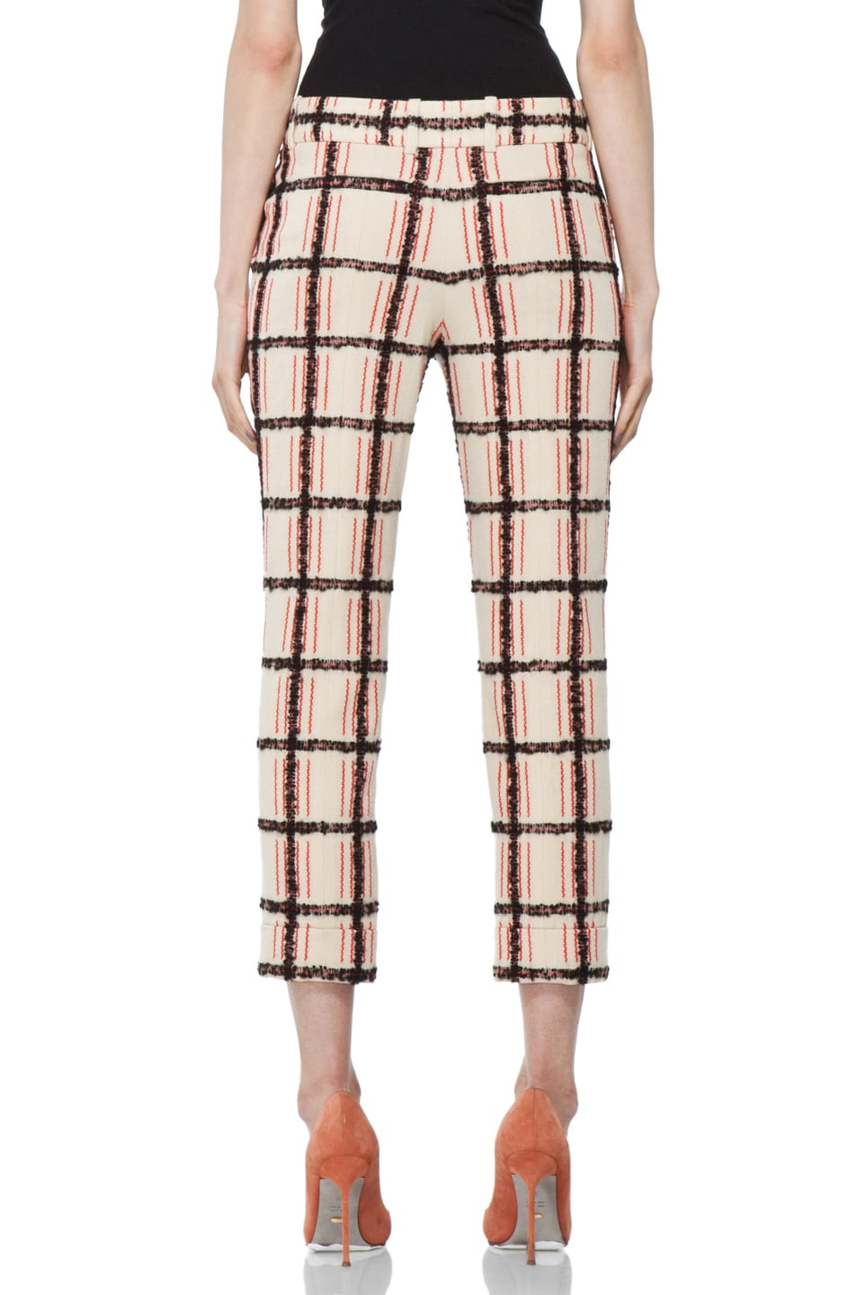Image 4 of Chloe Plaid Cropped Pant in Multi