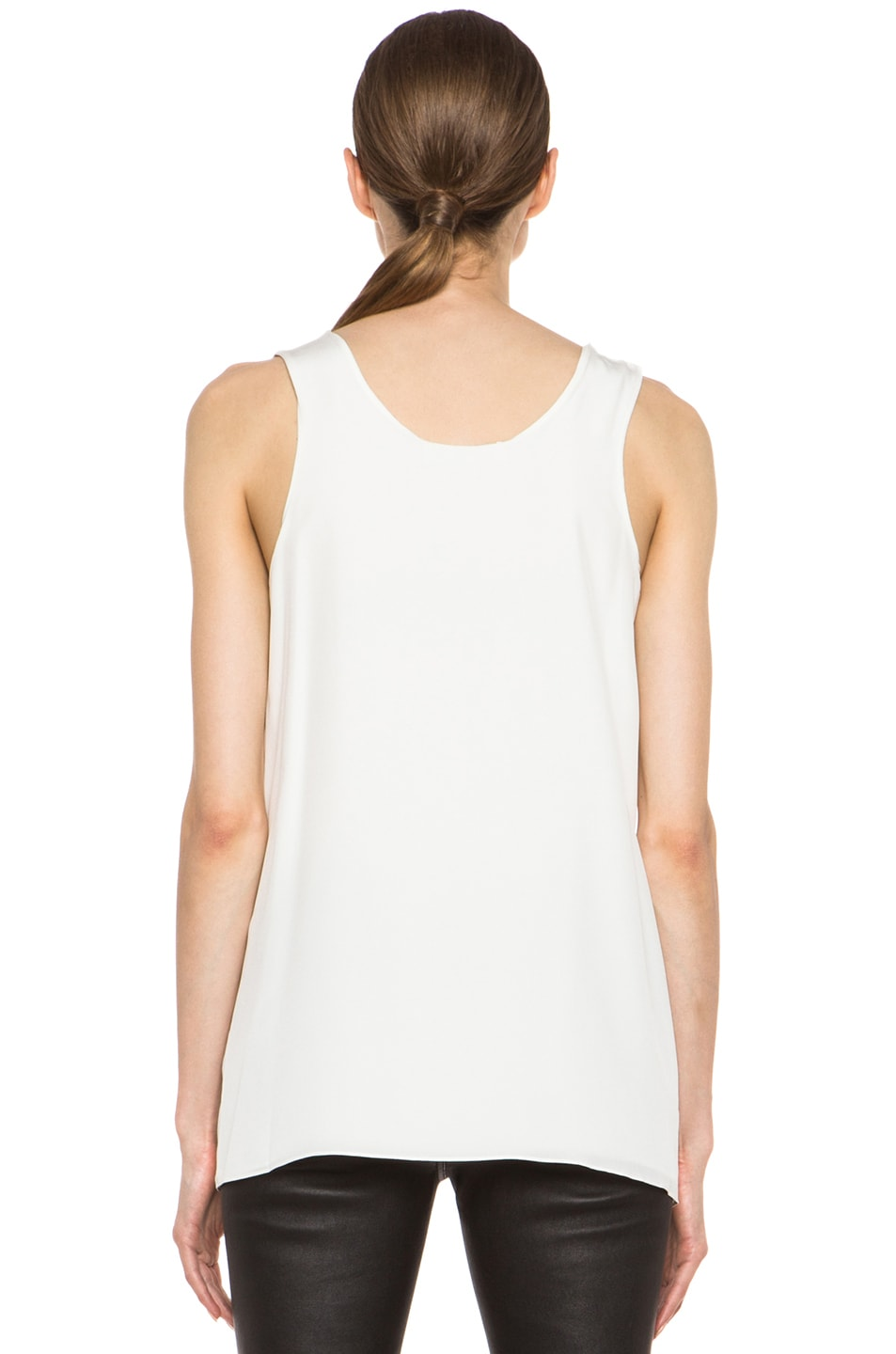 Image 4 of Chloe Pleated Tank in White