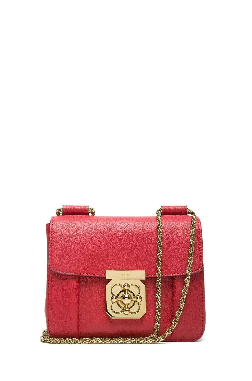 Image 1 of Chloe Small Elsie Shoulder Bag in Berry Cupcake