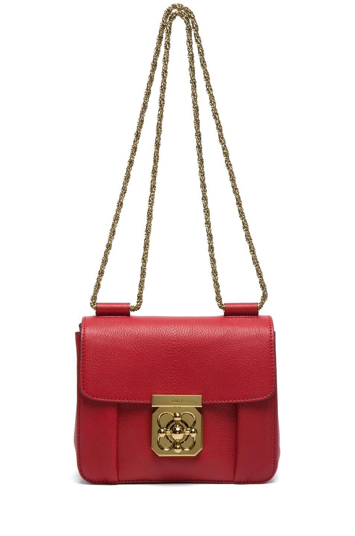 Image 5 of Chloe Small Elsie Shoulder Bag in Berry Cupcake