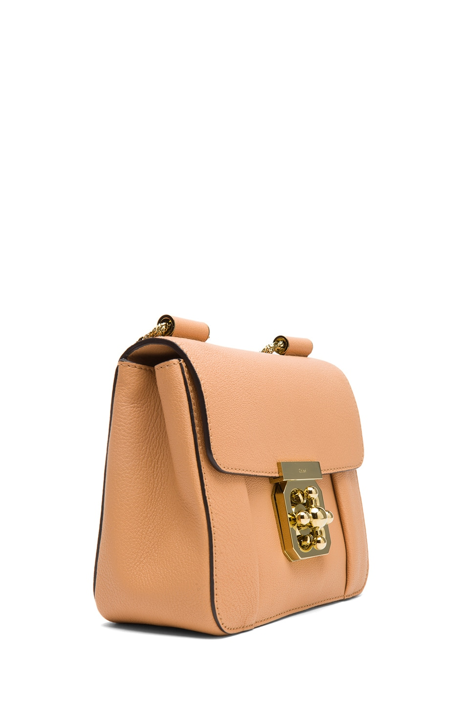 Image 3 of Chloe Small Elsie Shoulder Bag in Rose Milk