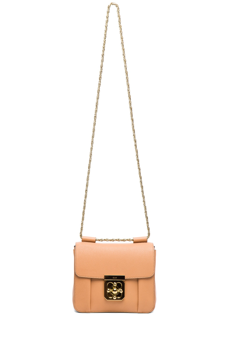 Image 6 of Chloe Small Elsie Shoulder Bag in Rose Milk