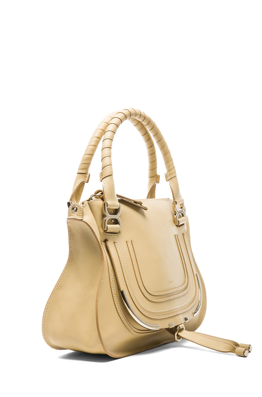 Image 3 of Chloe Medium Marcie Shoulder Bag in Biscotti Beige