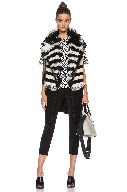 Chloe Medium Baylee Handbag in Marshmallow Grey \u0026amp; Black | FWRD