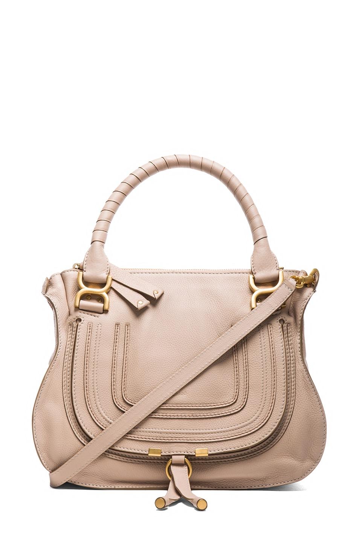 Chloe Medium Marcie Shoulder Bag in Rope Beige | FWRD