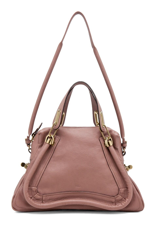 Chloe Paraty Medium Handbag with Strap in Desert Mauve | FWRD