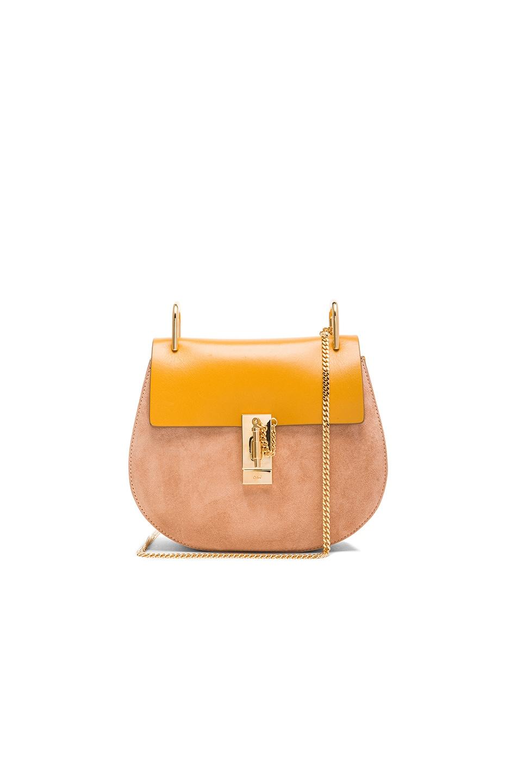 Chloe Drew Medium Shoulder Bag in Curry Yellow | FWRD