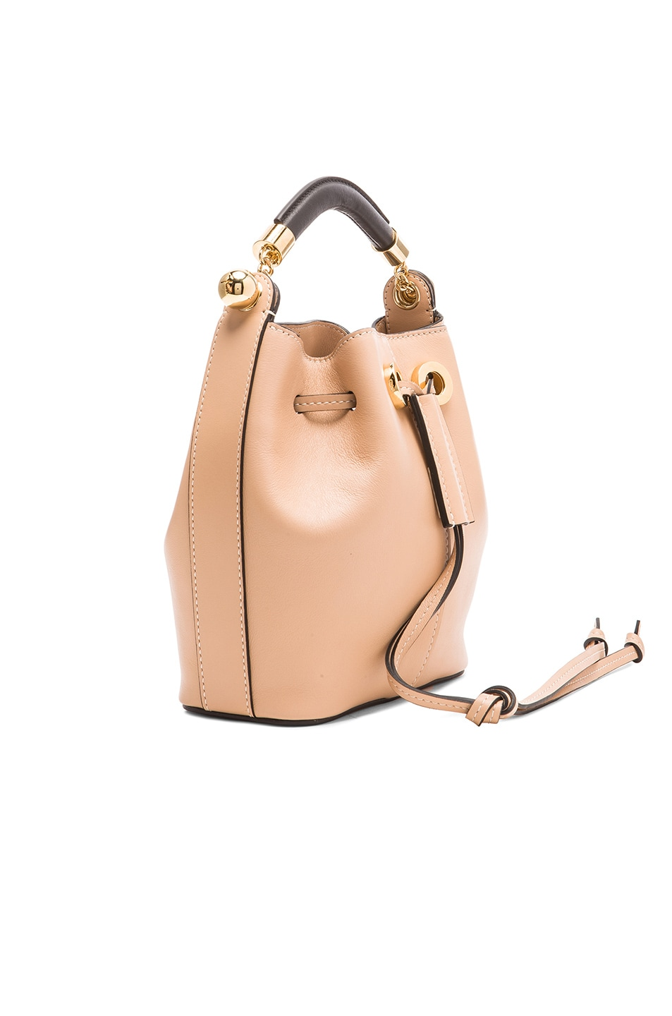 SMALL GALA BUCKET BAG IN SMOOTH red CALFSKIN