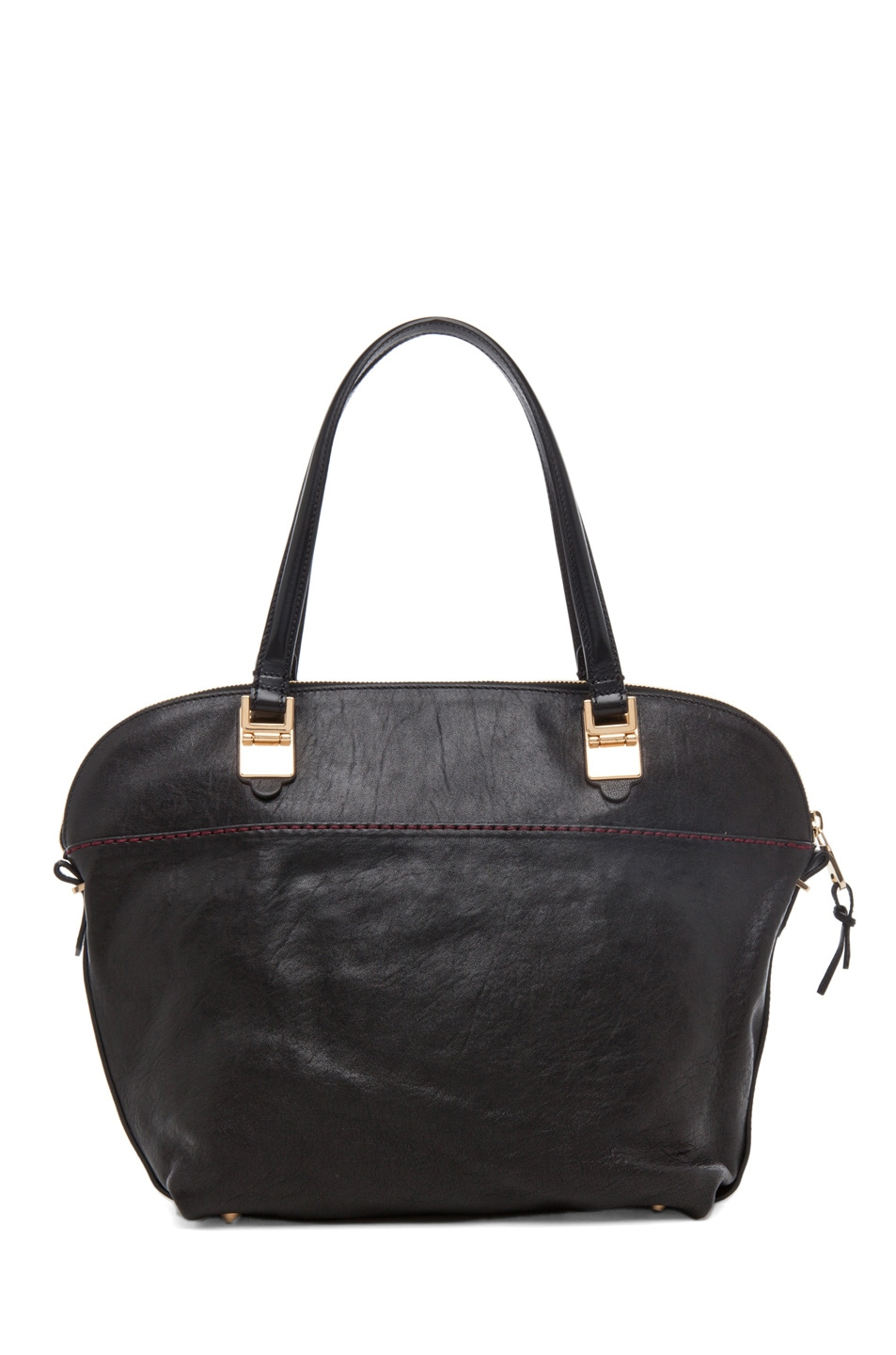 Image 2 of Chloe Large Angie Shoulder Bag in Black