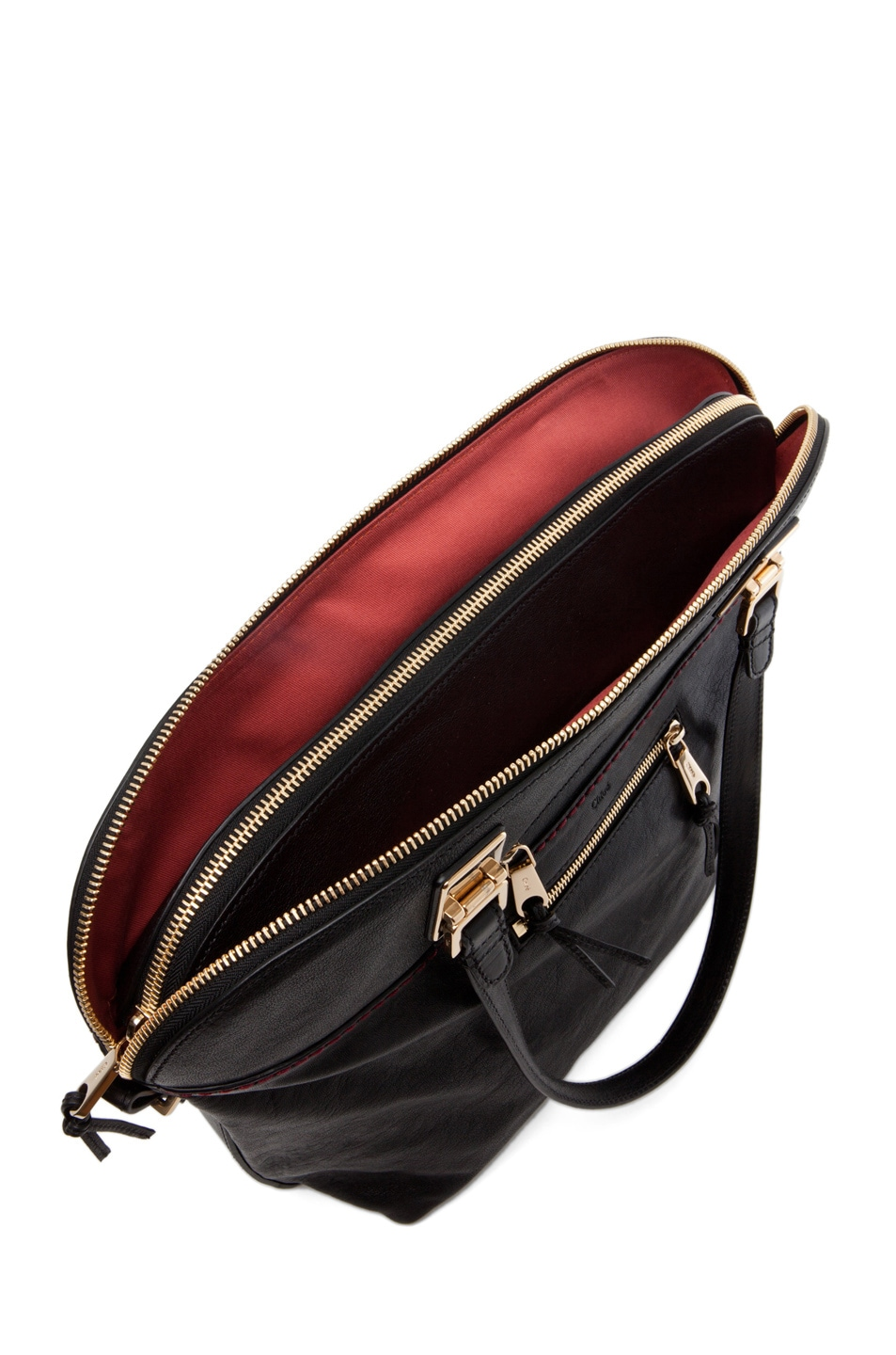 Image 4 of Chloe Large Angie Shoulder Bag in Black