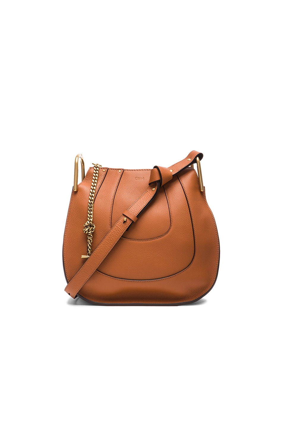 Image 1 of Chloe Small Hayley Leather Hobo in Tan