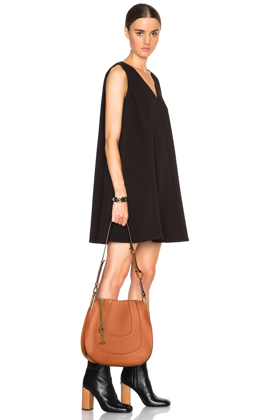 Image 2 of Chloe Small Hayley Leather Hobo in Tan